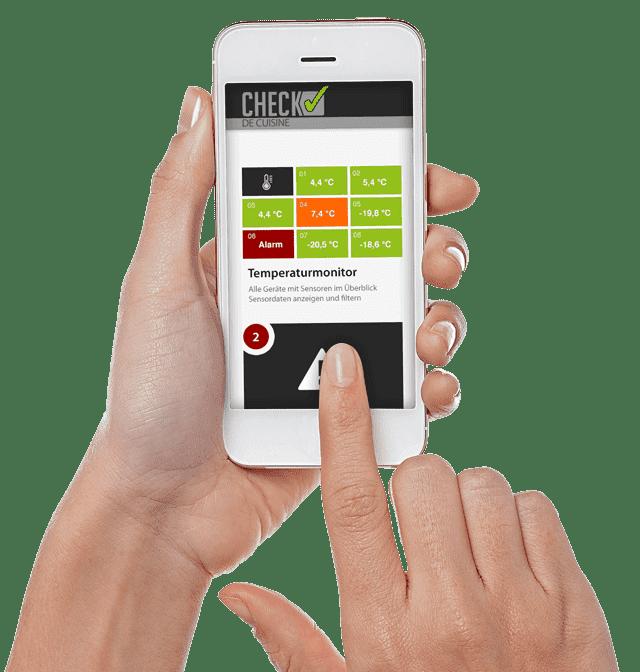 CDC Check de cuisine Smartphone Web